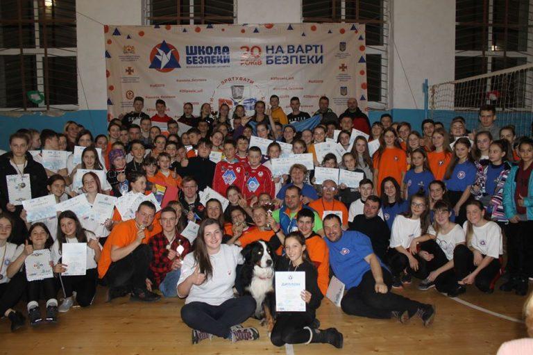 Всеукраїнський зимовий навчально-тренувальний збір юних рятувальників Буковець - 2020